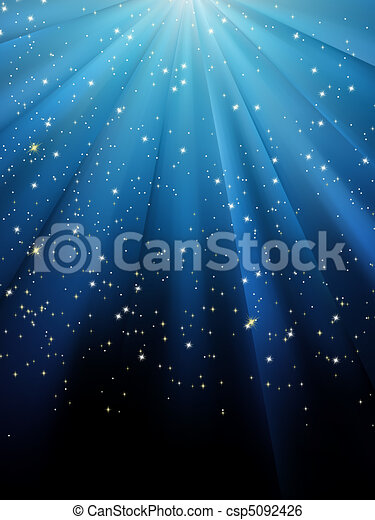Estrellas de fondo a rayas azules. EPS 8 - csp5092426