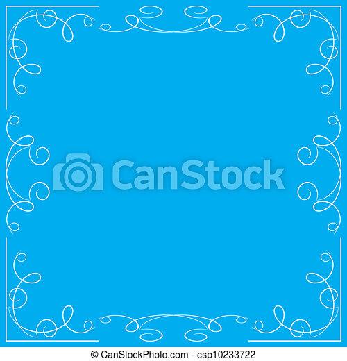 Un marco floral azul - csp10233722