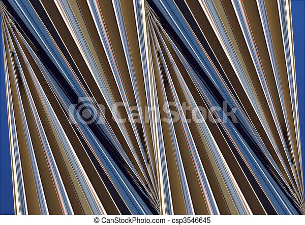 Abstracto edificio azul y gris - csp3546645