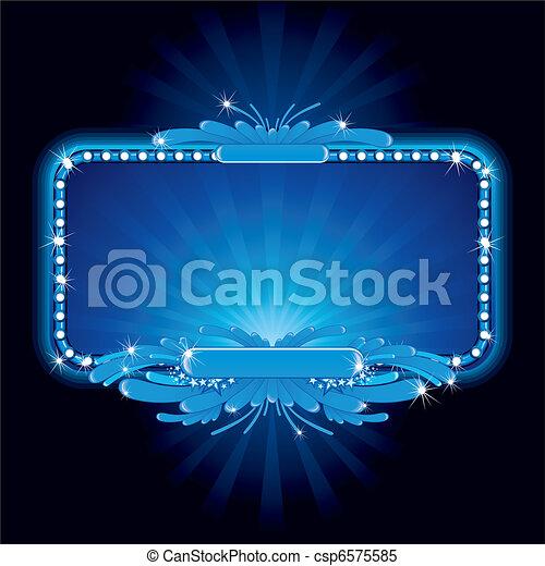 Signo de neón azul - csp6575585