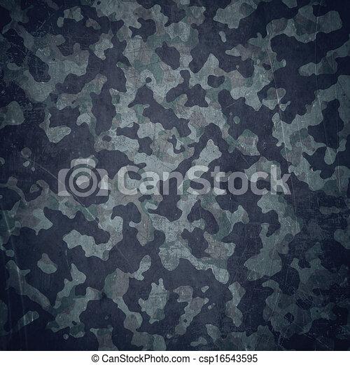 Cuartel militar en azul - csp16543595
