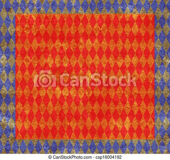 Arlequín azul y dorado - csp16004192