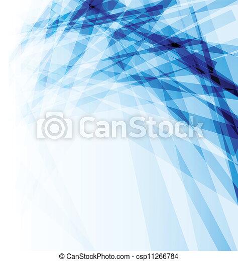 Un folleto de negocios azul, antecedentes abstractos - csp11266784