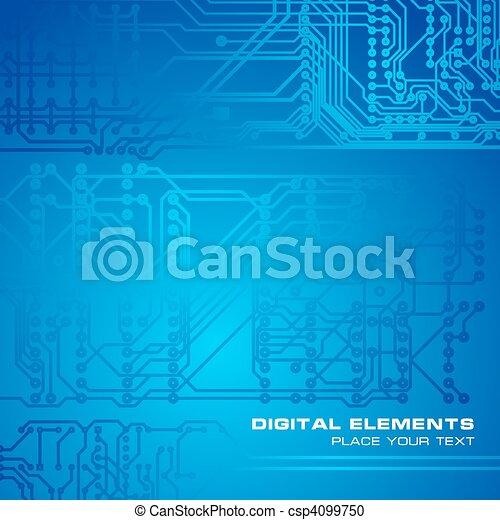 Cubierta de circuitos azules - csp4099750