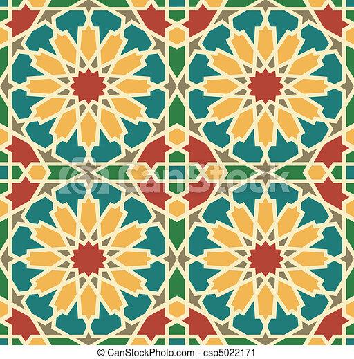 Azulejo de estrellas islámicas - csp5022171