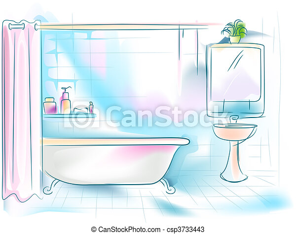 Baño - csp3733443