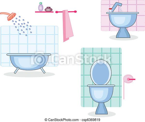 Baño y baño - csp6369819