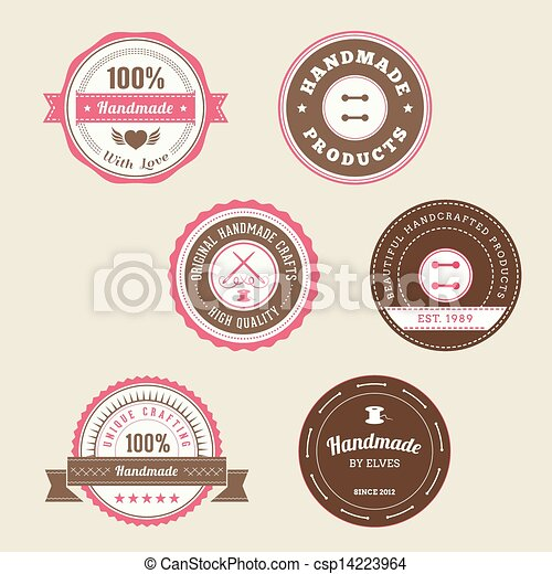 Badges para productos hechos a mano - csp14223964