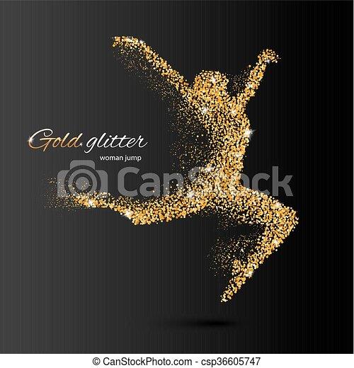 Mujer bailarina - csp36605747