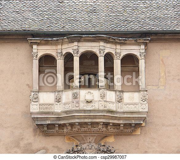 Balcón histórico - csp29987007