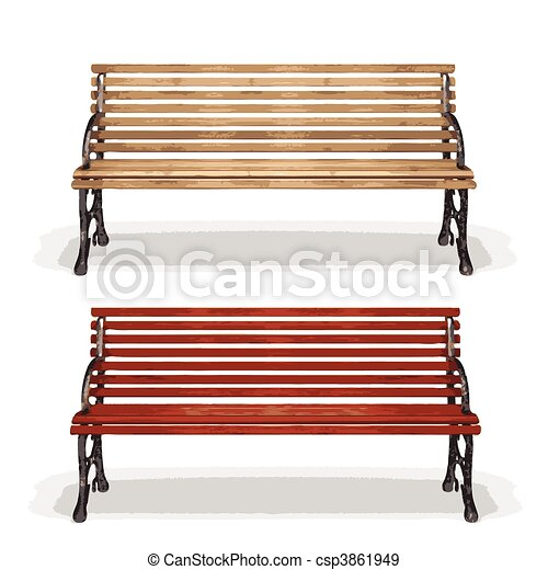 banca de madera (vector) - csp3861949
