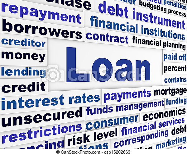 Préstame un concepto bancario creativo - csp15202663