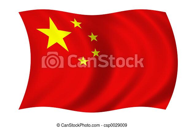 Bandera china - csp0029009