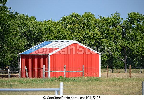 El cobertizo de la bandera de Texas - csp10415136