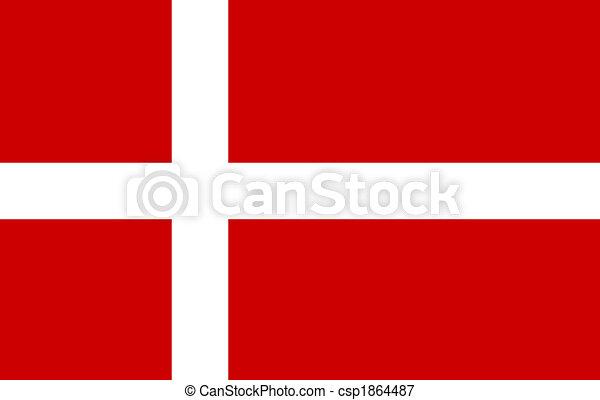 Bandera danesa - csp1864487