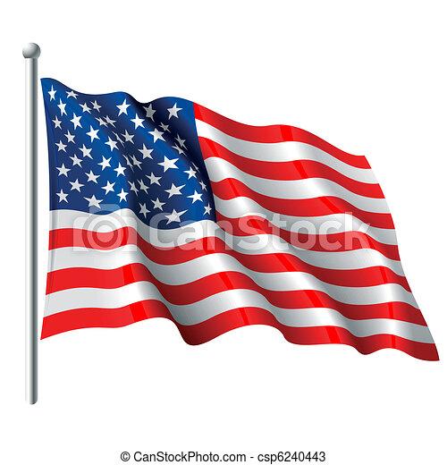 La bandera de los Estados Unidos - csp6240443