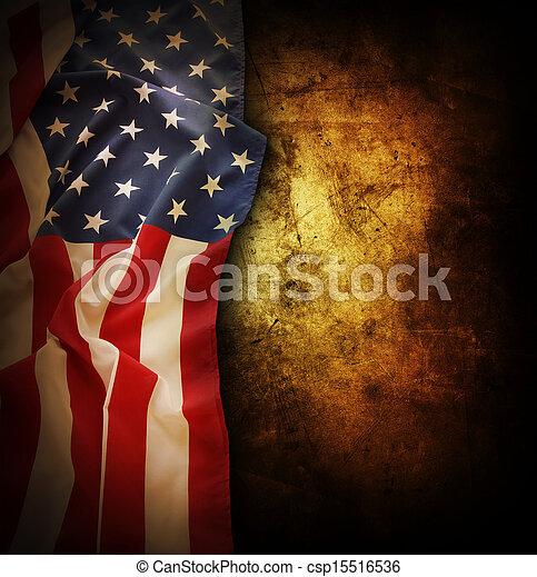 Bandera americana - csp15516536