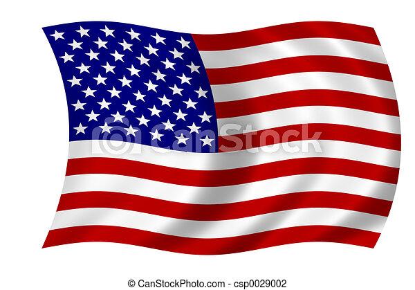 La bandera americana - csp0029002