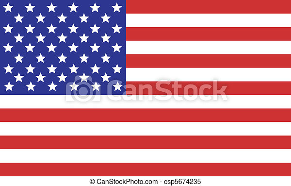 La bandera americana - csp5674235