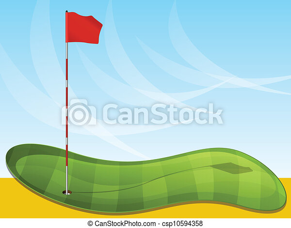 Patrón de golf - csp10594358