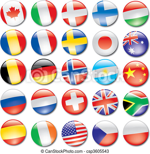 iconos de bandera - csp3605543