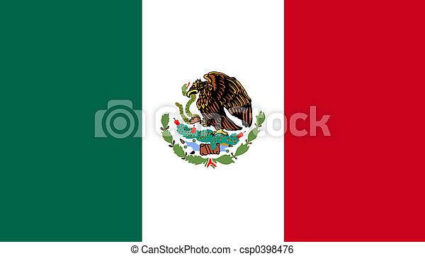 La bandera de México - csp0398476