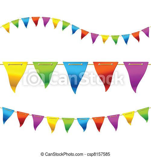 Banderas Bunting - csp8157585