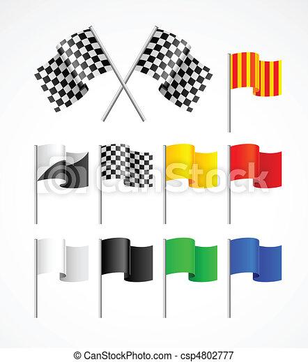 Banda de banderas deportivas - csp4802777