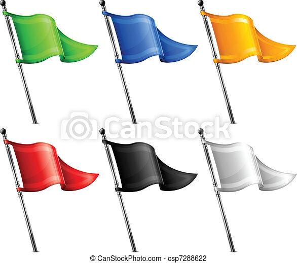 Un conjunto de banderas triangulares - csp7288622
