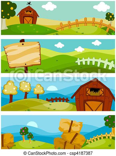 Banners de granja - csp4187387