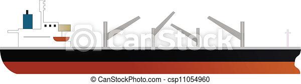 Nave de carga de transporte de carga seco con cuatro grullas - csp11054960