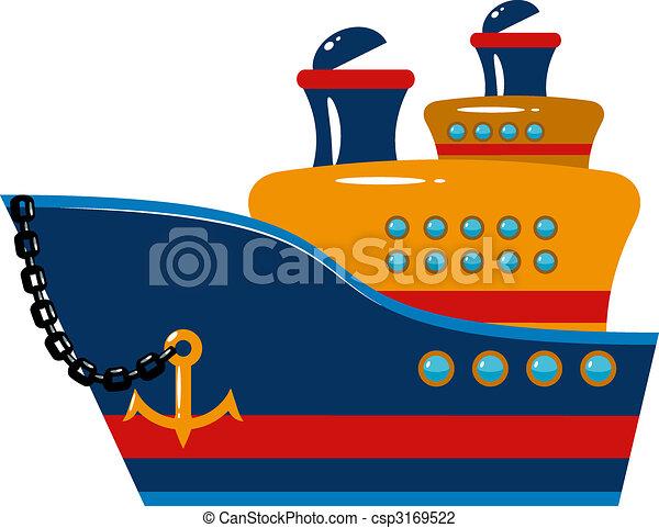 Un crucero de pasajeros - csp3169522