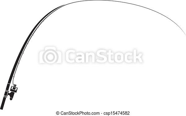 Varilla de pesca aislada - csp15474582