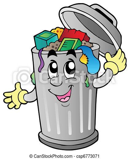 Un cubo de basura - csp6773071