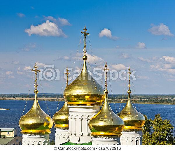 John la iglesia bautista, Nizhny novgorod, Rusia - csp7072916