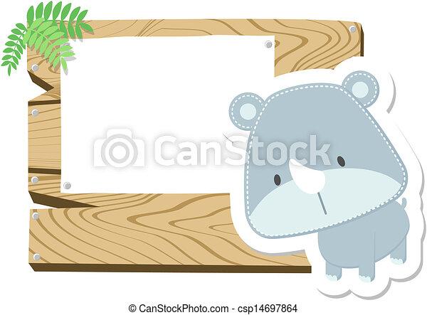 La tabla de señales del bebé rinoceronte - csp14697864