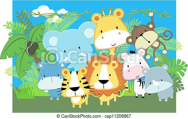 Safari para bebés del vector - csp11208867