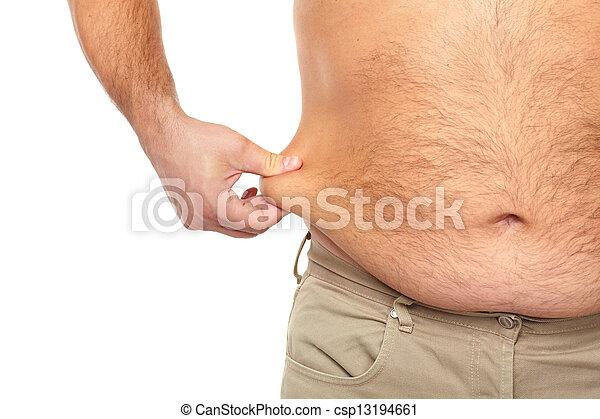 Gordo con una barriga grande. - csp13194661