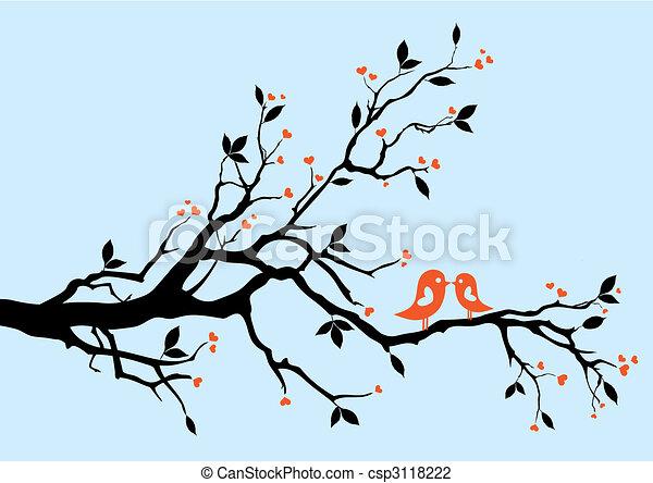 Pájaros besándose - csp3118222