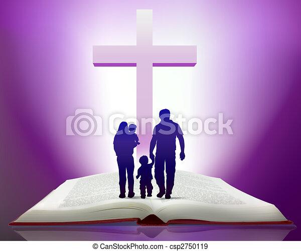 Biblia y familia - csp2750119