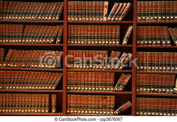 biblioteca de libros de derecho - csp3876067