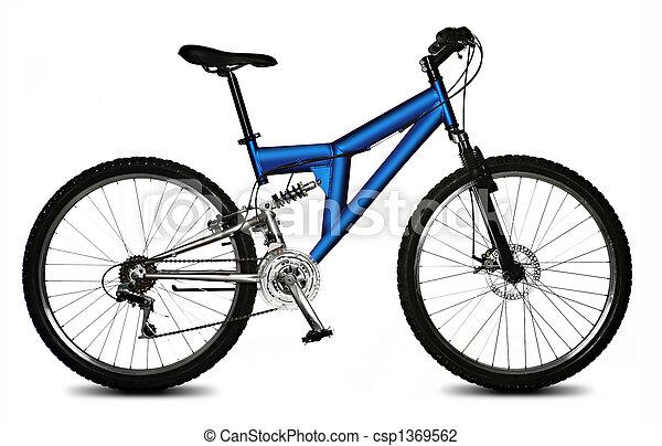 Una bicicleta aislada - csp1369562