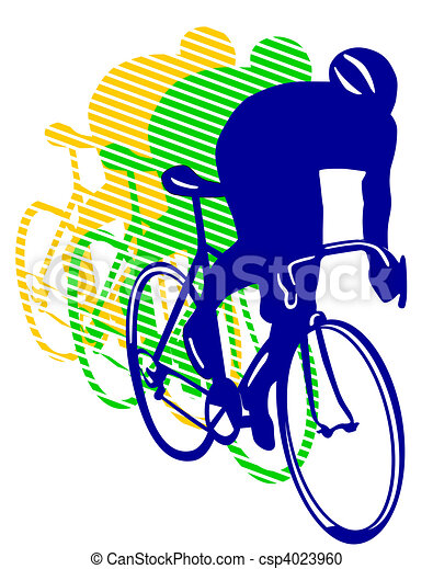 Una bicicleta de carreras - csp4023960
