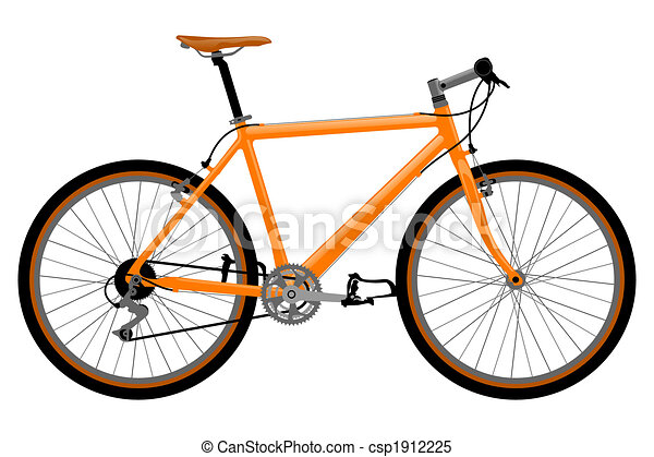 Ilustración de bicicleta. - csp1912225