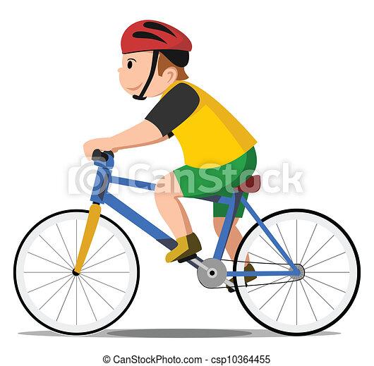Niño de bicicleta - csp10364455