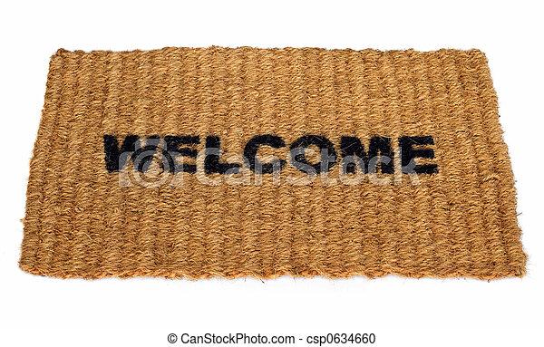 Bienvenida alfombra - csp0634660