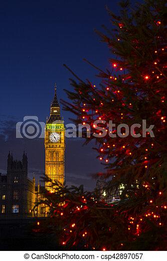 Big Ben en Navidad - csp42897057