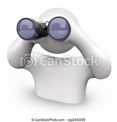 Binoculares, buscando ayuda - csp2443308