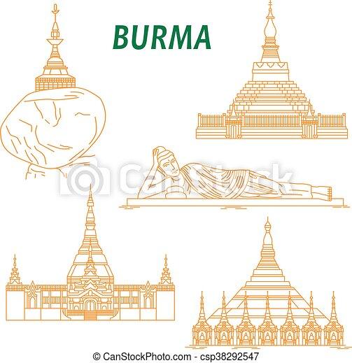 Antiguos templos budistas de Birmania - csp38292547