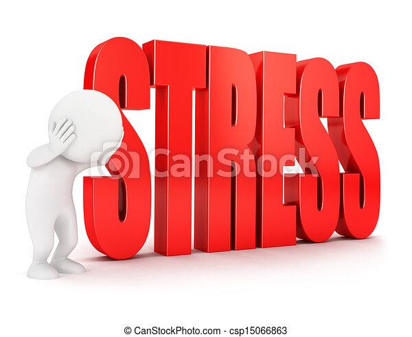 Tres blancos se estresan - csp15066863